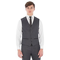 Red Herring - Charcoal textured with tipping slim fit waistcoat