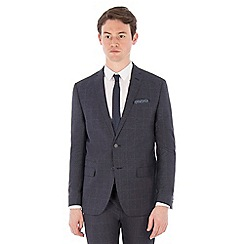 Red Herring - Slate blue jaspe windowpane check suit