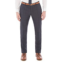 Red Herring - Slate blue jaspe windowpane check trouser