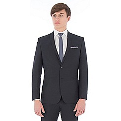 Red Herring - Deep slate blue gingham regular fit suit