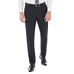 Red Herring - Deep slate blue gingham trouser