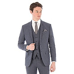 Red Herring - Airforce blue donegal slim fit suit