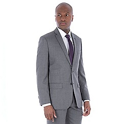 J by Jasper Conran - Grey jaspe wool blend tailored fit suit jacket