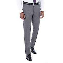 J by Jasper Conran - Grey jaspe wool blend tailored fit suit trouser