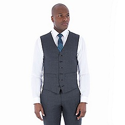 Hammond & Co. by Patrick Grant - Grey jaspe wool blend 6 button tailored fit suit waistcoat
