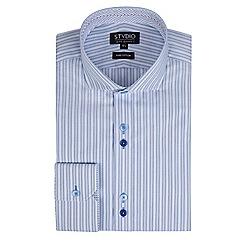 Stvdio by Jeff Banks - Light blue stripe shirt