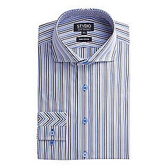 Stvdio by Jeff Banks - Blue Tonal Stripe Shirt