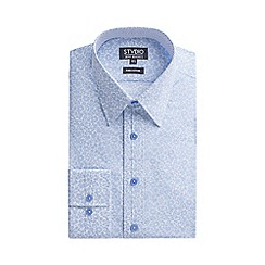 Stvdio by Jeff Banks - Light blue swirl floral print shirt