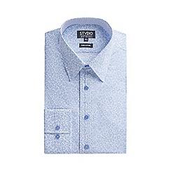Stvdio by Jeff Banks - Light blue swirl floral print shirt