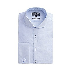 Stvdio by Jeff Banks - Limited edition light blue jacquard stripe shirt
