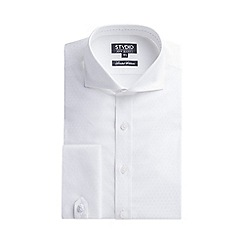 Stvdio by Jeff Banks - Limited edition white oval jacquard shirt