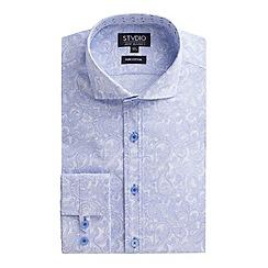 Stvdio by Jeff Banks - Light blue paisley print shirt