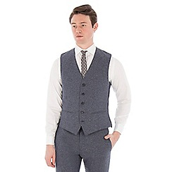 Red Herring - Airforce blue donegal slim waistcoat