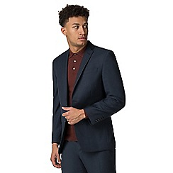 Racing Green - Deep blue pick and pick athletic fit jacket
