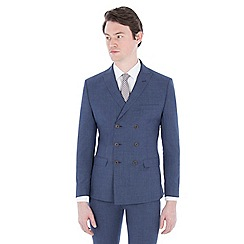 Ben Sherman - Cornflower blue double breasted slim jacket