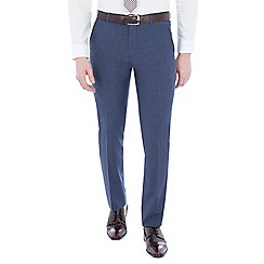 Ben Sherman - Cornflower blue double breasted slim trousers