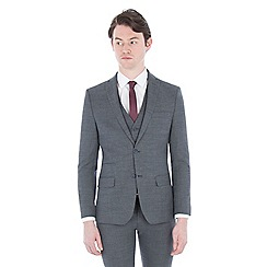 Ben Sherman - Grey structure micro check slim suit