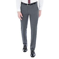 Ben Sherman - Grey structure micro check slim trousers