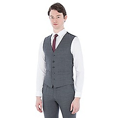 Ben Sherman - Grey structure micro check waistcoat