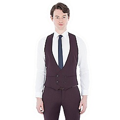 Red Herring - Burgundy double-breasted waistcoat