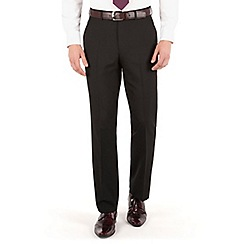 The Collection - Black plain regular fit trouser