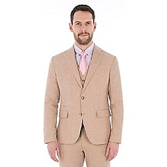 Jeff Banks - Oatmeal pure linen tailored fit suit
