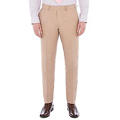 Jeff Banks - Oatmeal pure linen tailored fit suit trouser