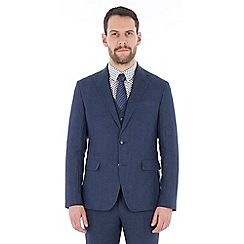 Jeff Banks - Blue pure linen tailored fit suit