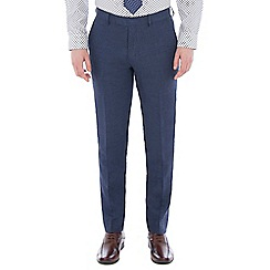 Jeff Banks - Blue pure linen tailored fit suit trouser