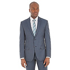 J by Jasper Conran - Blue pick and pick wool blend tailored suit jacket