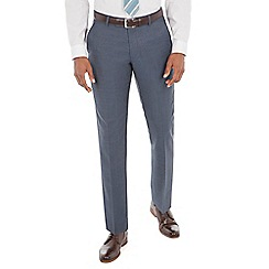 J by Jasper Conran - Blue pick and pick wool blend tailored fit suit trouser