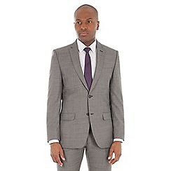 J by Jasper Conran - Grey pick and pick wool blend tailored fit suit jacket