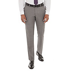 J by Jasper Conran - Grey pick and pick wool blend tailored fit suit trouser