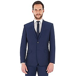 Occasions - Blue plain regular fit jacket