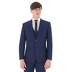 Occasions - Blue plain slim fit jacket