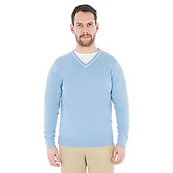 Jeff Banks - Pale blue v neck jumper