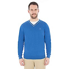 Jeff Banks - Blue v neck jumper