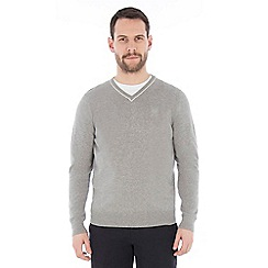 Jeff Banks - Mid grey v neck jumper