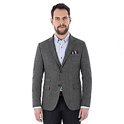 Jeff Banks - Grey multi nep weave blazer
