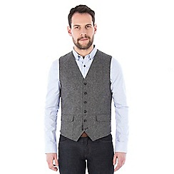 Jeff Banks - Grey multi nep weave waistcoat