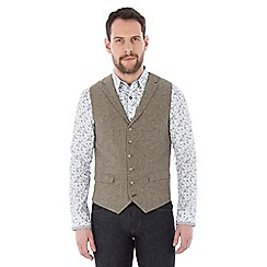 Jeff Banks - Taupe donegal waistcoat