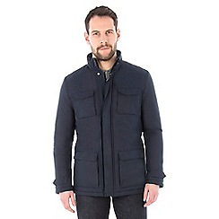 Jeff Banks - Navy four pocket urban jacket