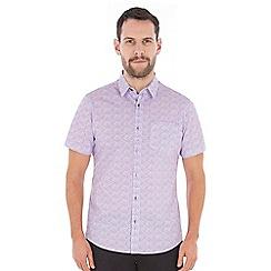 Jeff Banks - Lilac flower print shirt