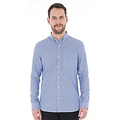 Jeff Banks - Blue textured weave shirt