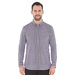 Jeff Banks - Purple textured check shirt