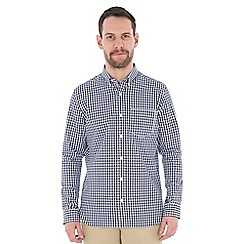 Jeff Banks - Blue textured check shirt