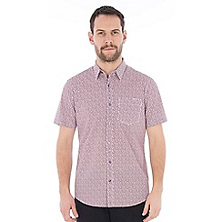 Jeff Banks - Berry clover print shirt