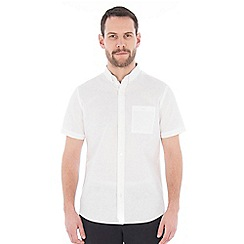 Jeff Banks - White linen mix shirt