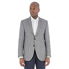 J by Jasper Conran - Grey textured pure linen tailored fit jacket