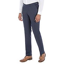 J by Jasper Conran - Blue cotton blend tailored fit trouser
